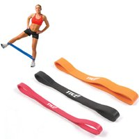 Wholesale Colorful resistance belt Natural rubber LB fitness band Gym exercise elastic support Home physical strength training