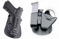Cheap One Set Tactical RH Paddle GL2-ND Glock 17 19 Holster+Tactical CU9 Combo Pouch Cuff & Magazine .357 .40 9mm