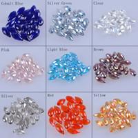 Wholesale 100 pcsBeads x18mm crystal teardrop Beads Faceted teardrop crystal beads perles facettes Druppel goutte effilee