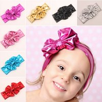 amazing hair bows - 2015 Amazing cute baby girls children bow headband top knot headband lovely baby turban hair wraps