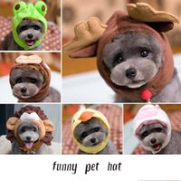 Wholesale Kojima Lovers Style Hat Frog Strawberry Animal Shapeshift Cap Pet Teddy The Dog Spring And Summer Pet accessories Supplies