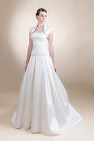 Cheap A-Line Plus Size Bridal Gowns Best Reference Images Strapless A line Wedding Dress