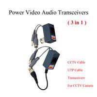 1ch audio video parts - CCTV BNC video Balun UTP Video Balun power Passive Balun Rj45 POE Power Video Audio in Transceivers CCTV spare parts