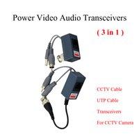 Vídeo CCTV BNC poder Balun UTP Balun video pasivo del Balun Rj45, POE Power Video Audio 3 en 1 transceptores CCTV repuestos