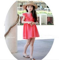 Wholesale kids clothes kids clothing for kids yellow and red color choice kids skirt fashion kids dress free ship