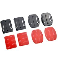 Wholesale GoPro Go Pro Accessories x Flat Mounts x Curved Mounts with adhesive pads for GOPRO HERO sj4000 sj5000 sj6000