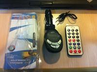Wholesale Car MP3 Player FM Transmitter Modulator With Wireless Remote Control USB SD MMC