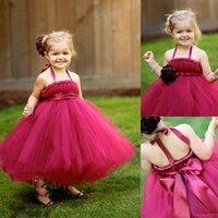 beautifull dress - Custom Made Beautifull SleevelessHandmade Tutu Flower Girl Dresses Toddler Flower Girl Dresses for Wedding Party