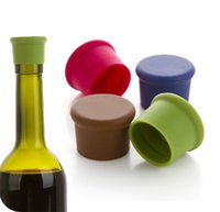 Wholesale Candy color food grade silicone fresh cap wine beer seasoning bottle stopper set