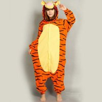 adult sleeper pajamas - New Arrival Adult cartoon animals sleeper Cosplay tigger Couples dress that occupy the home Performance clothing pajamas