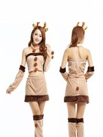 apricot types - Sexy Split Type Santa Suit Mascot Christmas Nightclubs Games Costume Cotton Blend Free Size w Apricot