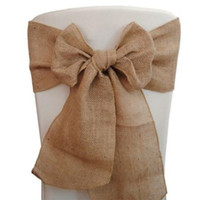 Wholesale Burlap Chair Sashes quot x quot quot x quot quot x quot Rustic Wedding Decorationes Event parties Shows