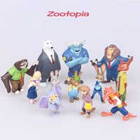 Wholesale 12pcs set cm new Movie Zootopia Cartoon Utopia Action Figure Pvc Mini Models Nick Fox Judy Rabbit