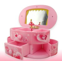 ballerina jewelry boxes - Novelty Music Boxes for Jewelry Musical Box Pink Yellow Unusual Ballerina Music Box Craft for Home Decoration