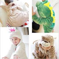 baby bathrobe - Autumn Winter baby bathrobe flannel thicken animal head kids robes keep warm long pattern children pajamas bathrobe GR321