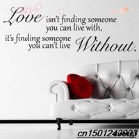 Wholesale Love Without Quote Wall Sticker wall stickers home decor Hanging Mural Self Adhesive Art Decal