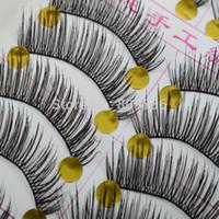 Wholesale 10 Pairs New Hot Makeup Beauty False Eyelashes Extension Long Thick Black Eye Lashes Women Xmas Gift Drop Free