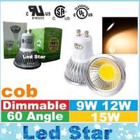 CE ul saa Dimmable E27 E14 GU10 MR16 Ampoules à LED Lumières cob 9W 12W 15W Spot Led Ampoules Lampe AC 110-240V / 12V