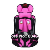 Wholesale 2 portable baby car seat annbaby rabbit colors child safety seat baby car seat cushion red blue pink white