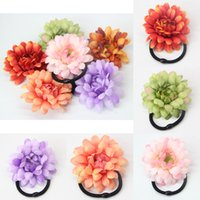 Wholesale 2015 Fashion Women Sunflower Flower Hair Band Rope Headband High Elastic Ponytail Holder Colors for your choose
