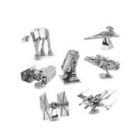 Wholesale New D Metal Puzzle Star Wars set For Adult Kids Kindergarten Educational DIY Toys Gift Jigsaw Puzzle Star Wars Model Metallic Model