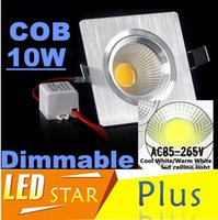 Wholesale Silver Square Led Recessed Downlights High Power Dimmable W COB Led Down Lights cabinet Lamp AC V With Power Supply