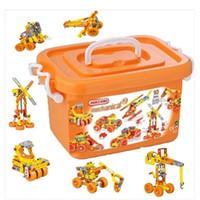juguete al por mayor de juguetes de montar meccano combinación de tuerca de tornillo coche de ingeniería kit de construcción mecano juguetes inteligencia modelo chirstmas regalos coche