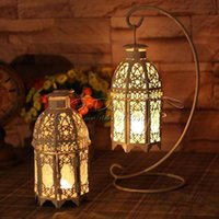 Wholesale Free Shippig Romantic Classical Iron Beautiful Candle Holders Lantern Wedding Home Decoration