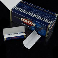 Wholesale DRUM Cigarette Paper Smoking Rolling Papers mm mm Natural Cigarette Rolling Wrapping Paper booklets Ultra thin Pure Flax Papers