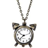 alarm pocket watch - Fashion Jewelry Alloy Alarm Clock Shape Pocket Fob Watches PHM697W