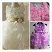 ball quality manual - Exquisite technology high quality small round collar made the latest manual flower adornment to the flower girl dress floor length
