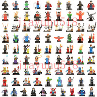 Wholesale 500pcs Individually Single Sale minifigure Super Heroes star war The Avengers Iron Man Hulk Batman Wolverine Thor Building Blocks bricks