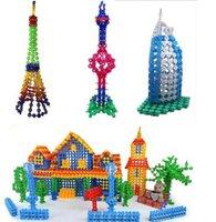 Wholesale 400pcs bag Snow Snowflake Building Blocks Toy Bricks DIY Assembling Classic Toys Early Educational Learning Toys