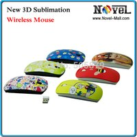 Wholesale D Blank Sublimation Wireless Mouse with Printing Tool