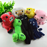 baby creepers - 7Pcs Jazwares Minecraft Enderman Creeper Pig Animal Soft Stuffed Plush Toys Action Figures Baby Dolls Children Christmas Gifts