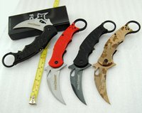 folding knife - best karambit FOX knife folding training hunting microtech c d2 outdoor survival knife freeshipping