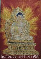 Wholesale Tibetan Buddhism Silk embroider Sakyamuni Tathagata Buddha Thangka