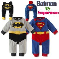 Wholesale 3PCS New baby rompers spring boys jumpsuit cotton cartoon batman baby girls rompers autumn winter superman baby clothes