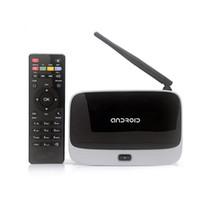 Wholesale CS918S Andriod Smart TV Box Quad Core GB RAM GB ROM Built in Bluetooth G K WIFI Android TV Box EU Plug Hot Selling