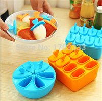 plastic tubs - Ice Mould Ice Cube Tray Box Forzen Lid Pop Mold Popsicle Maker Pattern Ice Cream Tray Pan Kitchen DIY RTY