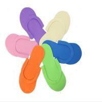 foam pedicure slippers - 2016 New EVA Foam Salon Spa Slipper Disposable Pedicure thong Slippers Disposable slippers