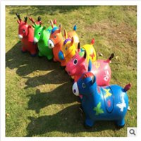 Wholesale 2015 high quality Fashion Children cartoon Jumping Animal Riding Toy Thicken Explosion proof Inflatable Child Baby Ride Ons