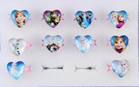 Wholesale Frozen glass heart shaped ring spot children explosion models jewelry price