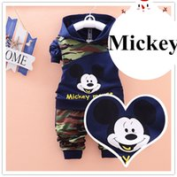 childrens clothing - baby clothes Mickey Mouse kids clothes soliders camouflage childrens clothing manlike boys clothes four clors four sizes