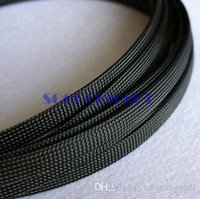 Cheap free shipping 10m Black 10mm Diameter Wire Protecting PET Nylon Braided Cable Sleeve A5