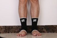 Wholesale 2 Bamboo Charcoal Ankle Pad Protection Elastic Brace Guard Ankle Support Sports Gym Black