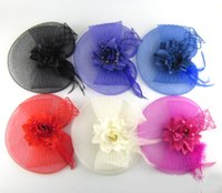 Wholesale 2015 new Feather Fascinator hat Good quality feather hat and on Aliceband for wedding church party races