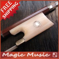 balancing frogs - PERNAMBUCO Silver Fitted Violin Bow with White Horn Frogs Good Balanced amp Quick Response