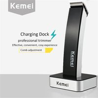 beard electric - High Quality kemei KM rechargeable hair clipper electric shaving machine razor barber cutting beard trimmer Cordless Black