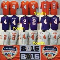 american youth football - Factory Outlet Orange Bowl Clemson Tigers Youth Jerseys Sammy Watkins Deshaun Watson Jersey Kids College Football Jerseys American